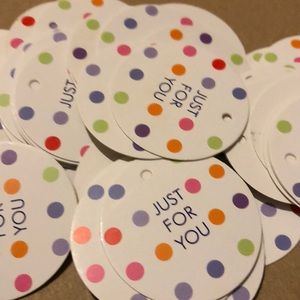 "LARGE PILE OF ""just for you"" TAGS"